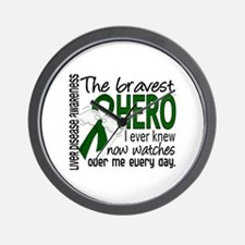 Bravest Hero I Knew Liver Disease Wall Clock