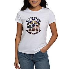 Scottish American Soccer Football Tee