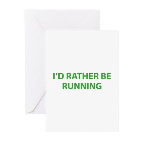 I'd Rather Be Running Greeting Cards (Pk of 20)