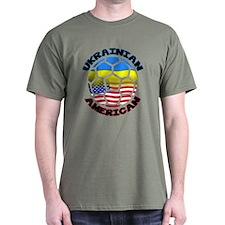 Ukrainian American Football Soccer T-Shirt