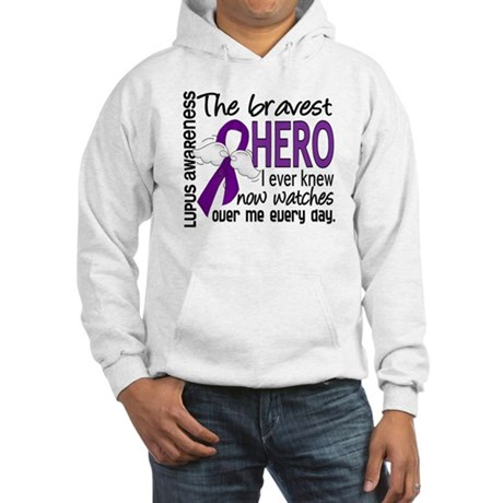 Bravest Hero I Knew Lupus Hooded Sweatshirt