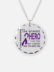 Bravest Hero I Knew Lupus Necklace Circle Charm