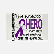 Bravest Hero I Knew Lupus Rectangle Magnet