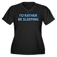 I'd Rather Be Sleeping Women's Plus Size V-Neck Da
