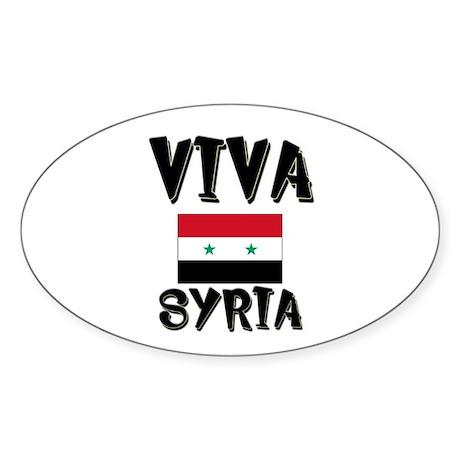 Viva Syria Oval Sticker