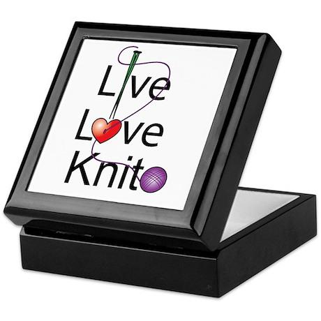 Live Love KNIT Keepsake Box
