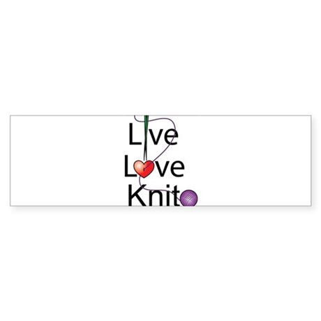 Live Love KNIT Bumper Sticker