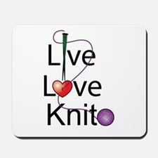 Live Love KNIT Mousepad