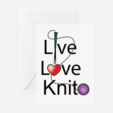 Live Love KNIT Greeting Cards (Pk of 10)