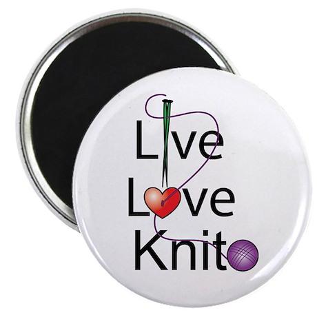 """Live Love KNIT 2.25"""" Magnet (10 pack)"""