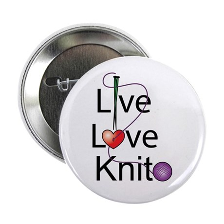 "Live Love KNIT 2.25"" Button (10 pack)"