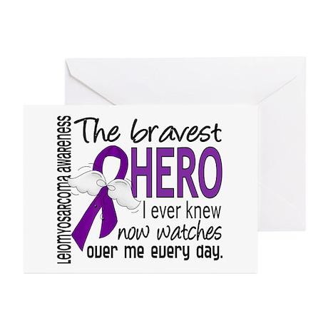 Bravest Hero I Knew Leiomyosarcoma Greeting Cards