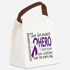 Bravest Hero I Knew Leiomyosarcoma Canvas Lunch Ba