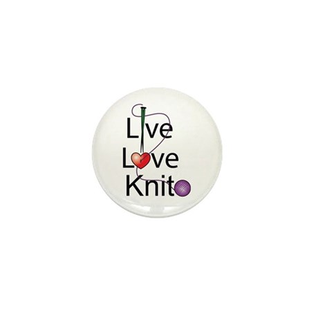 Live Love KNIT Mini Button