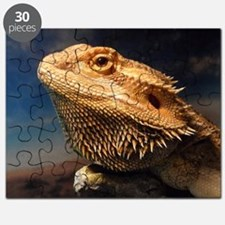 .young bearded dragon. Puzzle