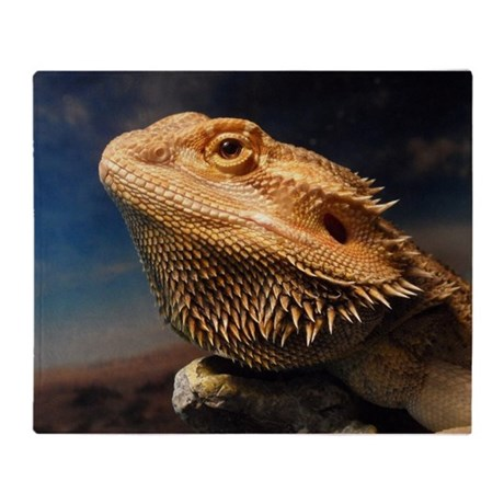 .young bearded dragon. Throw Blanket