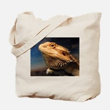.young bearded dragon. Tote Bag