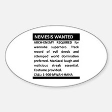 Nemesis Wanted Sticker (Oval)