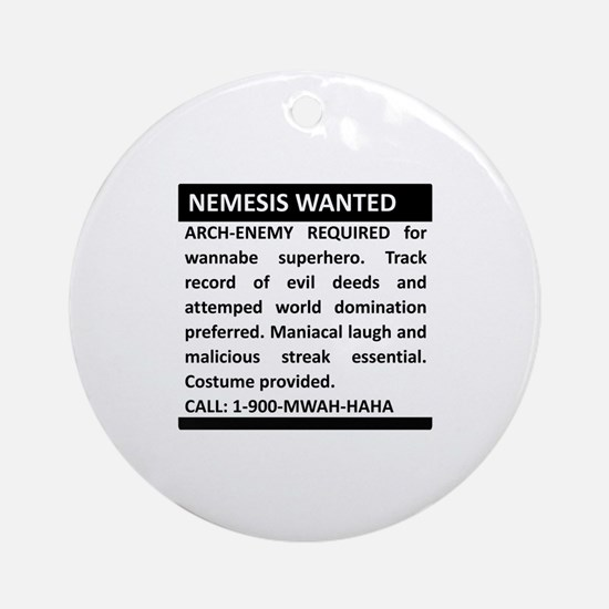 Nemesis Wanted Ornament (Round)