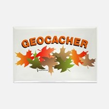 Autumn Geocacher Rectangle Magnet