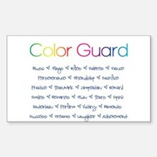 Color Guard Rainbow and Navy Blue Decal