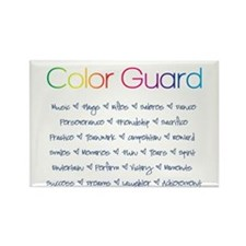 Color Guard Rainbow and Navy Blue Rectangle Magnet