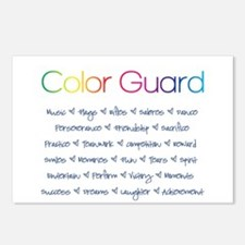 Color Guard Rainbow and Navy Blue Postcards (Packa