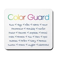 Color Guard Rainbow and Navy Blue Mousepad