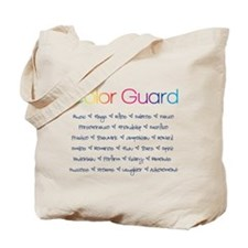 Color Guard Rainbow and Navy Blue Tote Bag