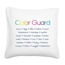 Color Guard Rainbow and Navy Blue Square Canvas Pi