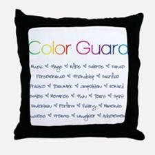 Color Guard Rainbow and Navy Blue Throw Pillow