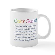 Color Guard Rainbow and Navy Blue Mug