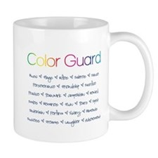Color Guard Rainbow and Navy Blue Mug