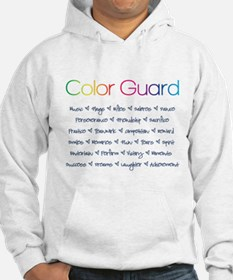 Color Guard Rainbow and Navy Blue Hoodie