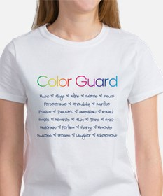 Color Guard Rainbow and Navy Blue Tee