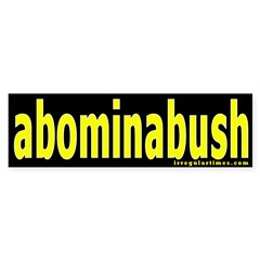 abominabush Bumper Bumper Sticker