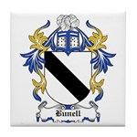 Bunell Coat of Arms Tile Coaster