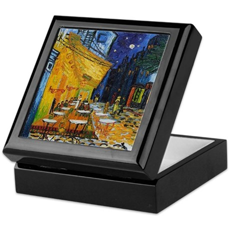 Cafe Terrace at Night by Van Gogh Keepsake Box