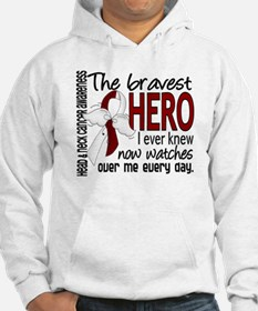 Bravest Hero I Knew Head and Neck Cancer Hoodie