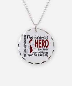 Bravest Hero I Knew Head and Neck Cancer Necklace
