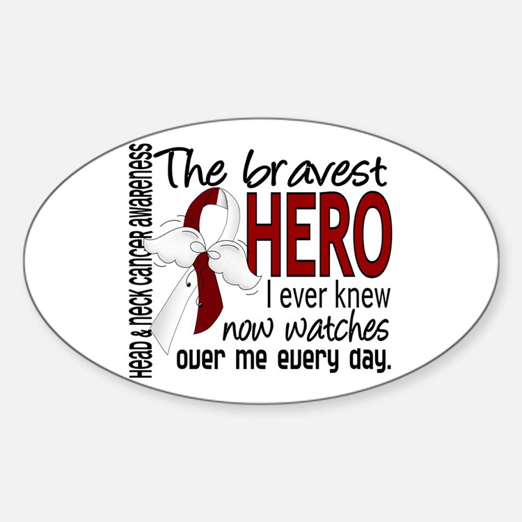 Bravest Hero I Knew Head and Neck Cancer Decal