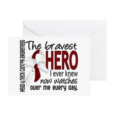 Bravest Hero I Knew Head and Neck Cancer Greeting
