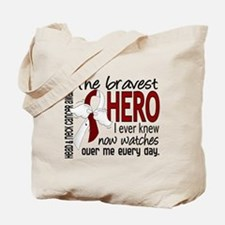Bravest Hero I Knew Head and Neck Cancer Tote Bag