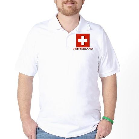 Flag of Switzerland Golf Shirt