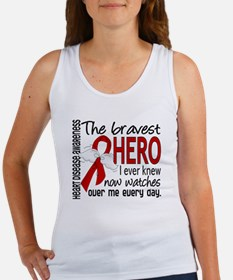 Bravest Hero I Knew Heart Disease Women's Tank Top