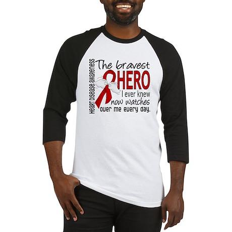Bravest Hero I Knew Heart Disease Baseball Jersey