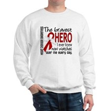 Bravest Hero I Knew Heart Disease Sweatshirt