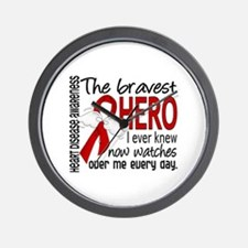 Bravest Hero I Knew Heart Disease Wall Clock