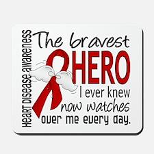 Bravest Hero I Knew Heart Disease Mousepad