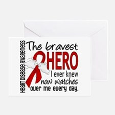 Bravest Hero I Knew Heart Disease Greeting Card